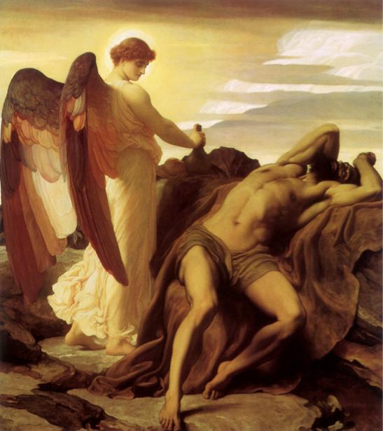 Картина Илья в пустыне Ангел (angel-00008)