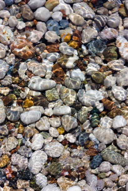 Фотошторы морские камушки (bathroom-curtain-00012)