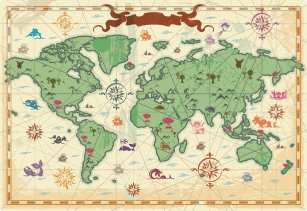 Детские фотообои карта мира (children-0000397)