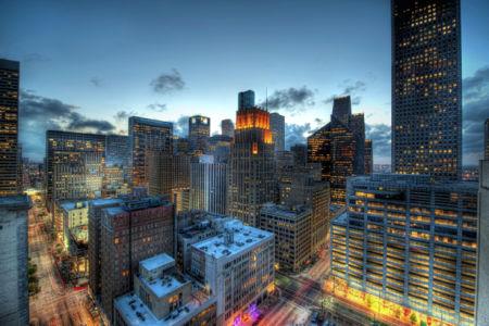 Фотообои ночной город, небоскребы (city-0000007)