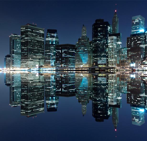 Фотообои современный, город, небоскребы, дорога, архитектура (city-0000255)