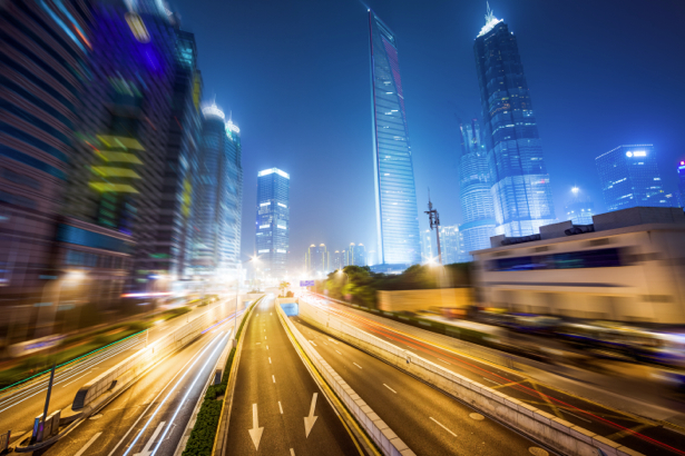 Фотообои ночной мегаполис мост (city-0000770)
