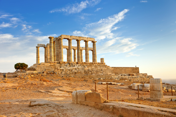 Фотообои Храм Посейдона Греция Афины (city-0000797)