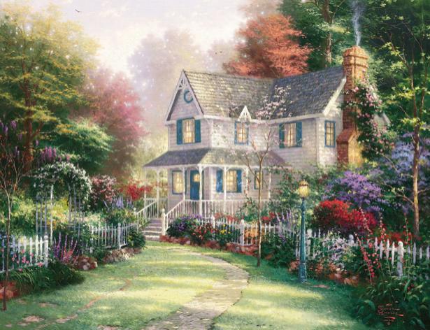 Фотообои фантазийная деревня (fantasy-0000044)