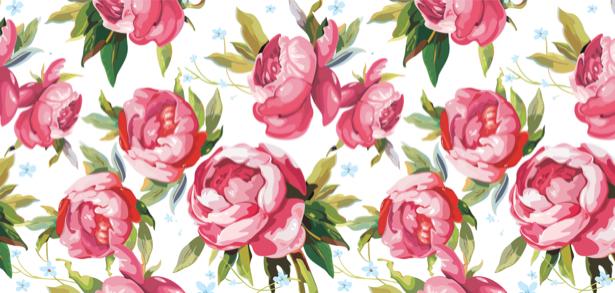 Фото обои на стену рисованные розы (flowers-0000117)