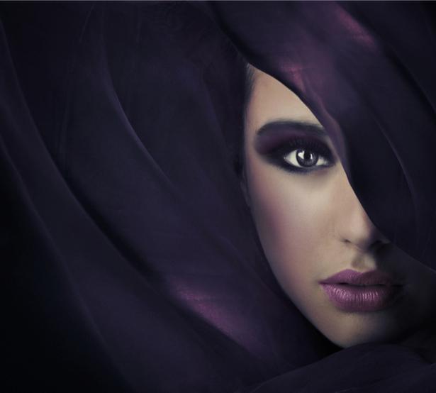Фотообои фотосессия фиолет (glamour-0000025)