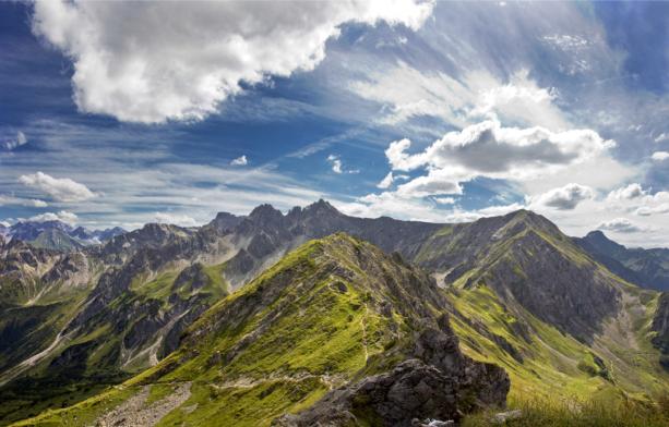 Фотообои горный пейзаж облака (nature-0000792)
