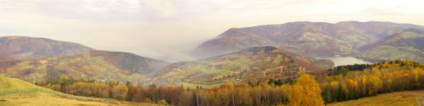 Фотообои горная панорама туман (panorama_0000011)