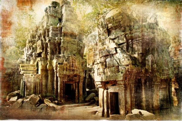 Фотообои Камбоджи древний храм (retro-vintage-0000114)
