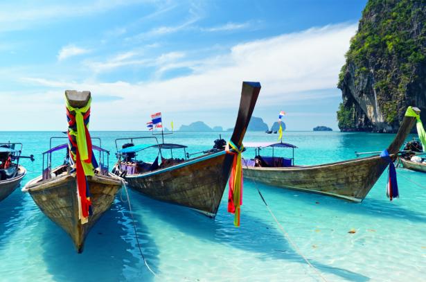 Фотообои лодки на островах Тайланда (sea-0000378)