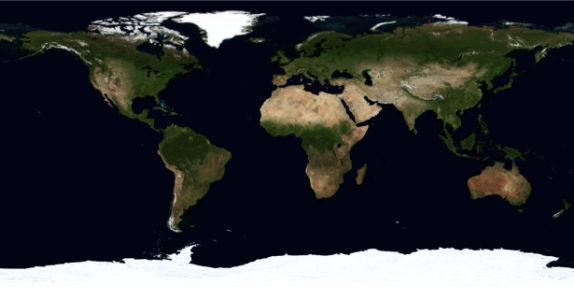 Фотообои планета земля в равертке (terra-00001)