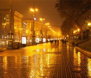 Фотообои Дождливый Крещатик (ukr-32)