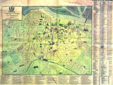 Историческая карта Киева 1947 г. (ukraine-0237)