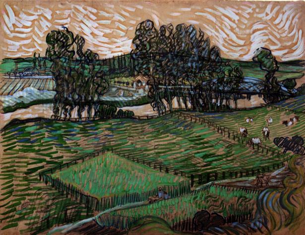 Ван Гог пейзаж (art-0000206)