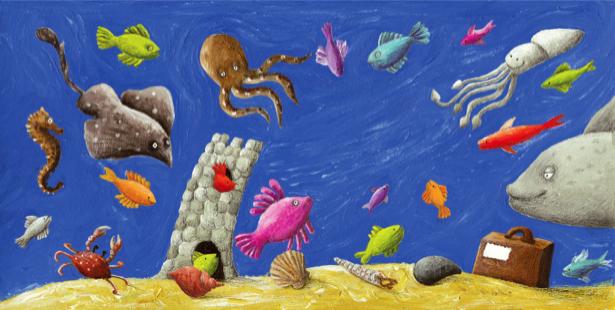 Фотообои детские - Подводное дно (children-0000315)