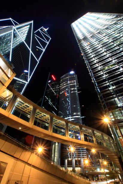 Фотообои мегаполис, ночь, огни (city-0000200)