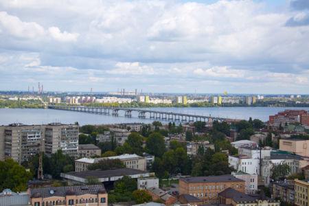 Фотообои город Днепропетровск река (city-0000954)