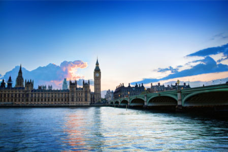 Фотообои Лондон Биг-Бен набережная (city-0001247)