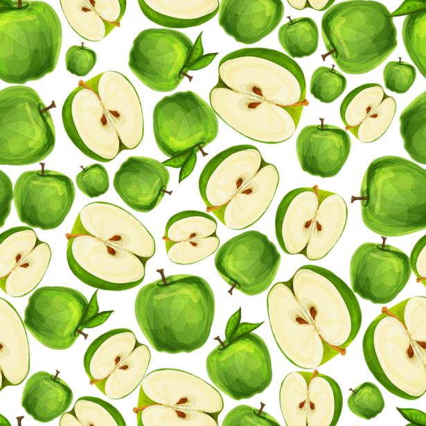 Фотообои для кухни Паттерн яблочный (food-0000310)