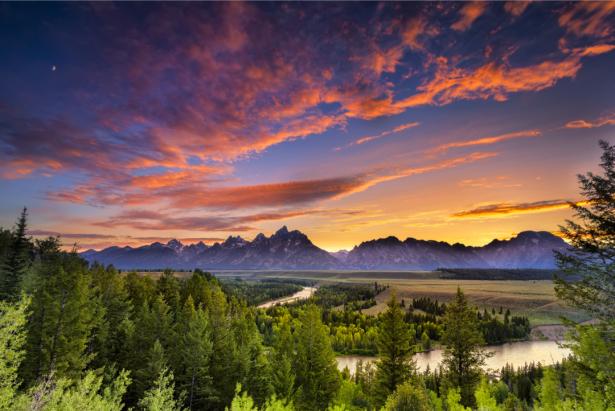 Фотообои пейзаж на закате (nature-0000776)