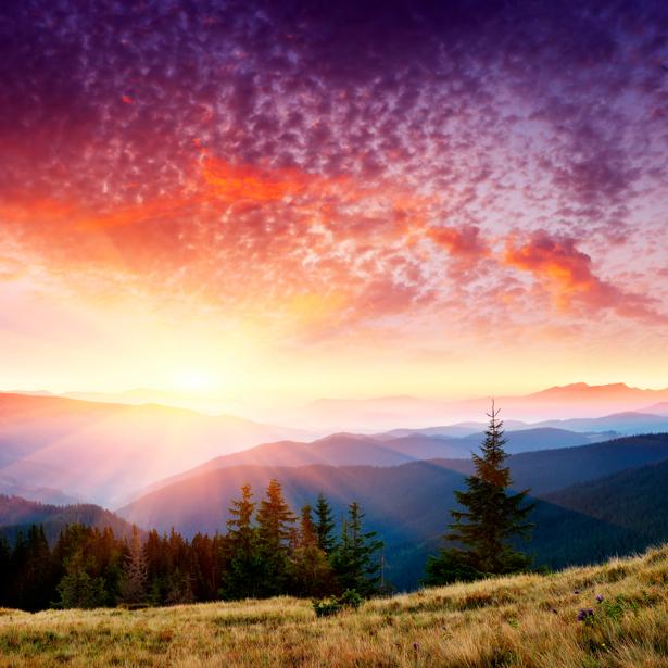 Фотообои горы закаты природы (nature-00176)