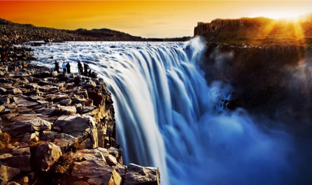 Фотообои красивый горный водопад (nature-00462)