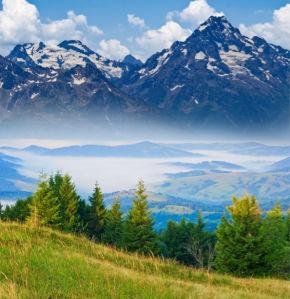 Фотообои горы пейзаж природа вид (nature-00492)