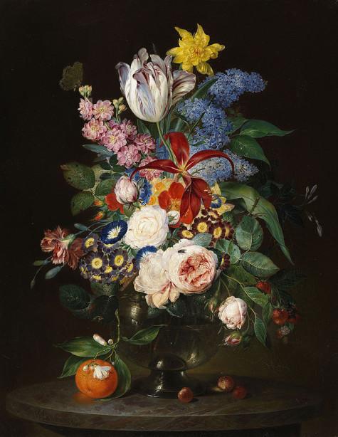 Картина Натюрморт цветочный (pf-151)