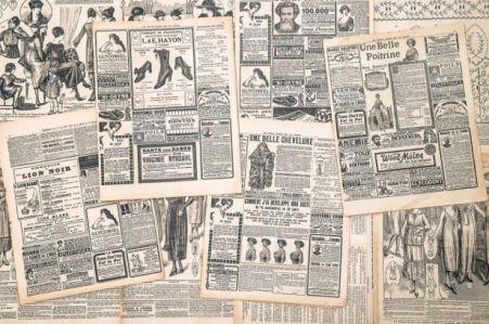 Фотообои из старых газет (retro-vintage-0000390)