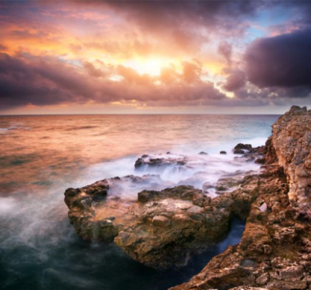 Фотообои море фото берега с закатом (sea-0000092)