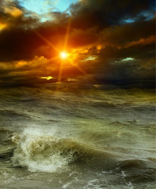 Фотообои море волны закат вечер (sea-0000245)