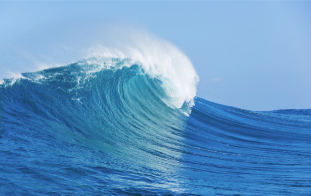 Фотообои море одинокая волна (sea-0000365)
