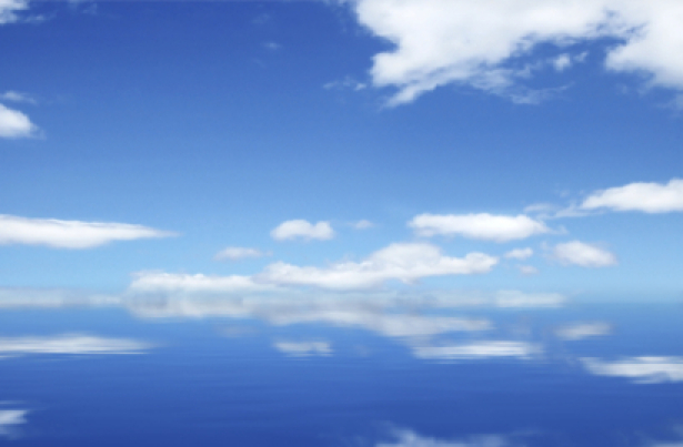 Фото обои небо и отражение в воде (sky-0000002)