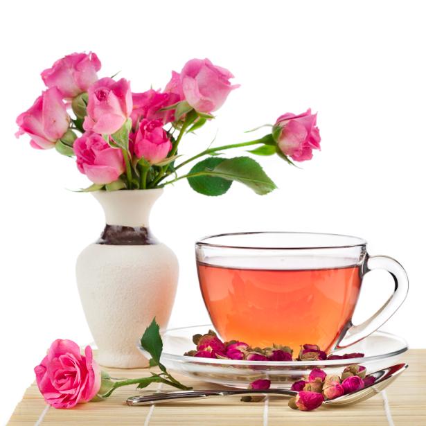 Фотообои розовый чай цветы (still-life-0006)