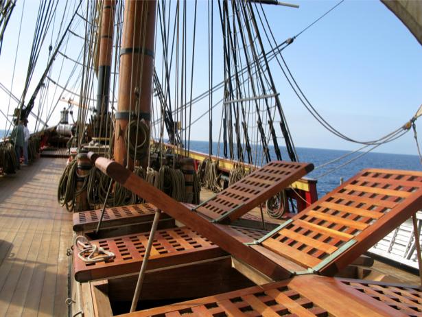 Фотообои палуба яхты старинного корабля (transport-0000041)