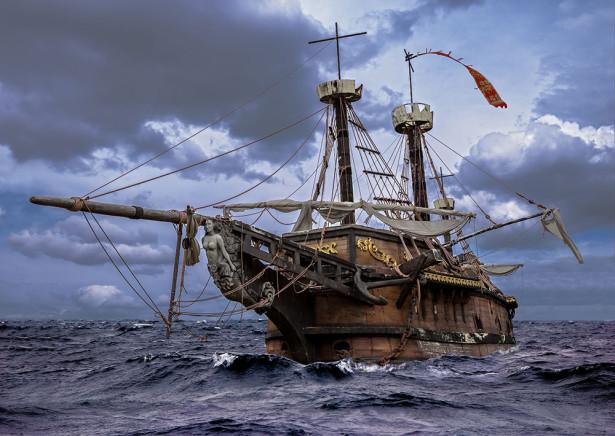 Фотообои Пиратский корабль «Черная жемчужина» (transport-322)