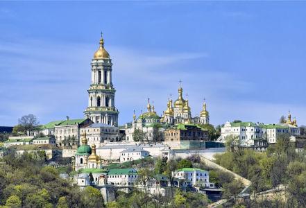 Фотообои архитектурный комплекс Киево-Печерской лавры (ukr-38)