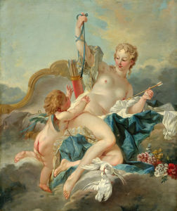 Картина фреска обои Стрелы амура (angel-00035)