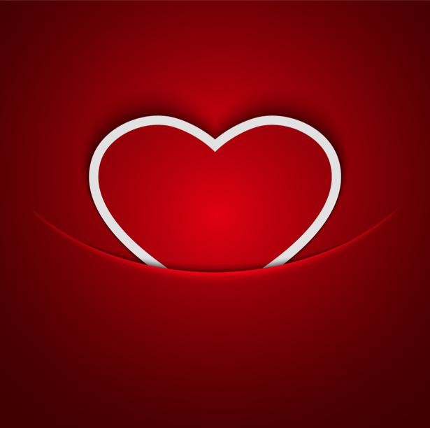 Фотообои красное сердце улыбка (background-0000352)