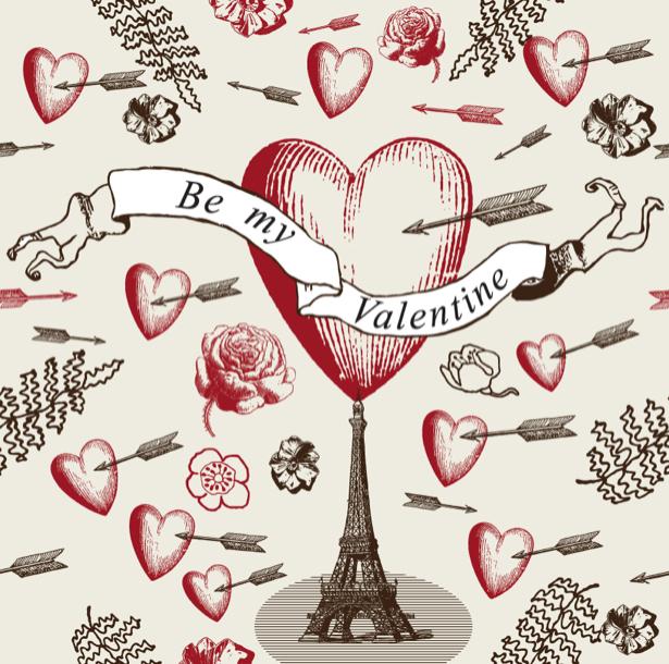 Фотообои днь святого Валентина (background-0000374)