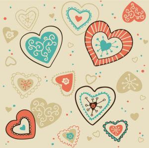 Фотообои с сердечками фон (background-0000380)