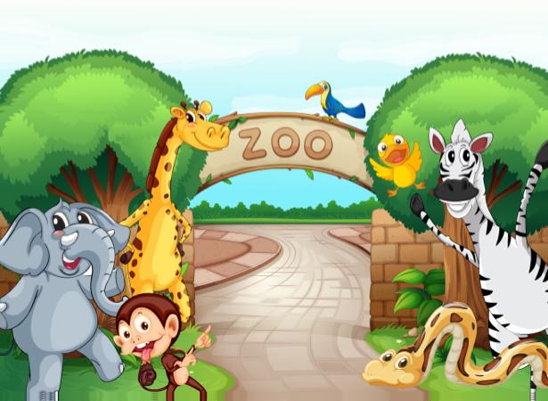 Животные фотообои детские зоопарка (children-0000262)