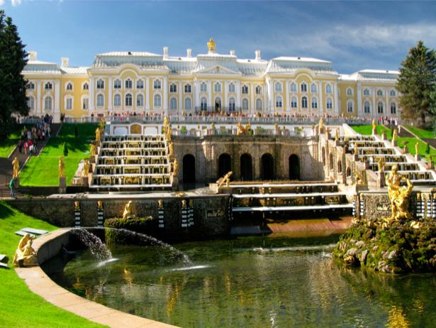 Фотообои фонтан в Петергофе, Петергоф (city-0000037)