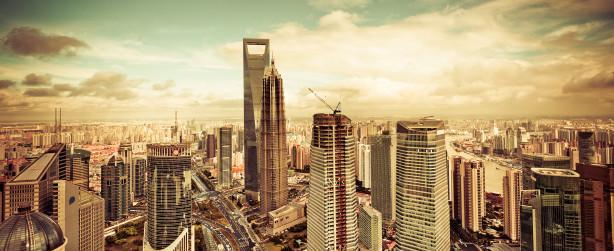 Фотообои панорама небоскрёбов мегаполиса (city-0000175)