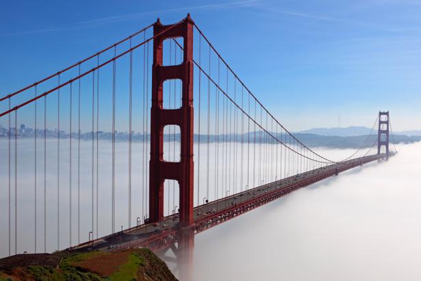 Фотообои Мост Золотые Ворота, висячий мост, Сан-Франциско, Калифорния, США (city-0000187)