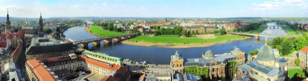Фотообои панорама Дрездена (city-0001096)