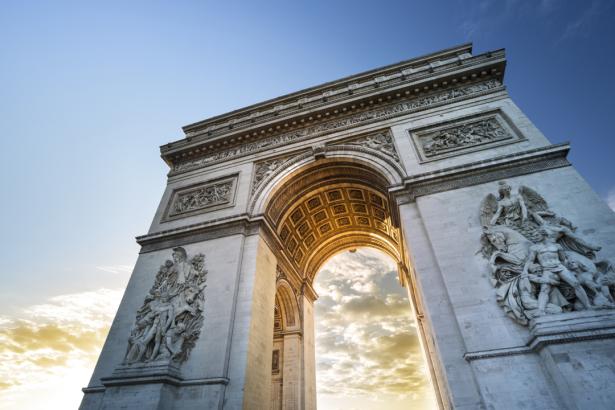 Фотообои - Триумфальная арка Париж (city-0001310)
