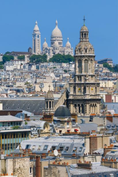 Фотообои городские крыши Париж Франция (city-0001367)