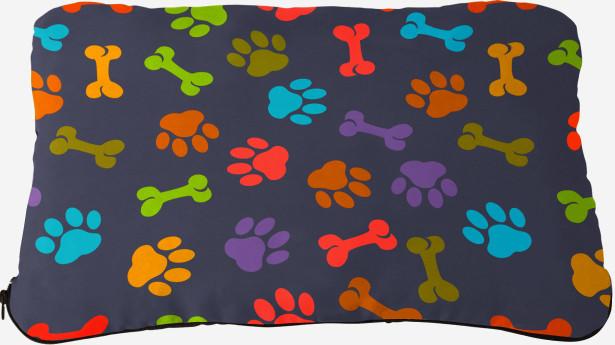 Подушка Цветные лапки (dog-4)
