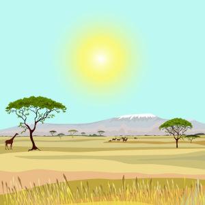 Фотообои пейзаж Африка (fantasy-0000159)
